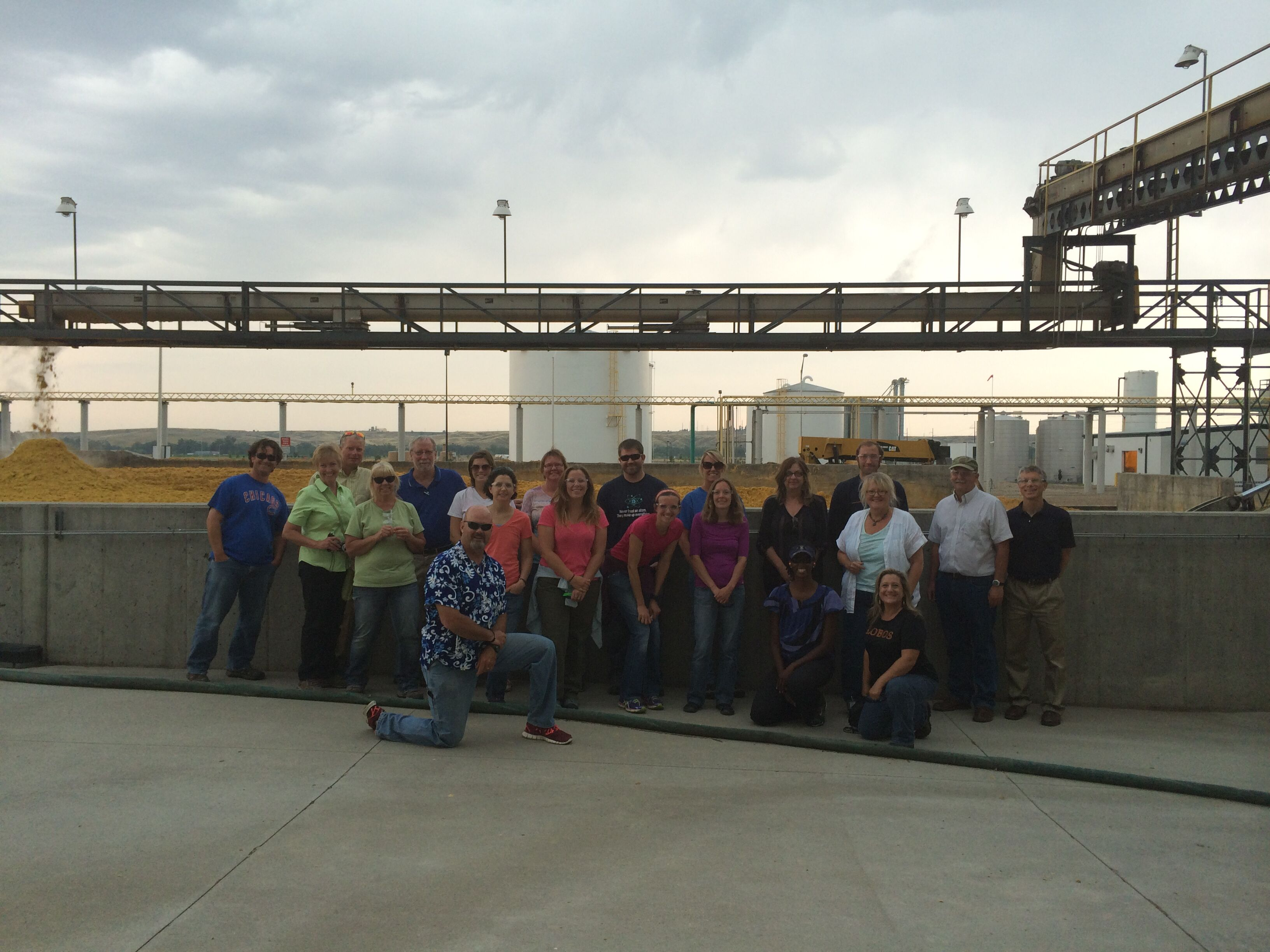 BANR Education team at the Front Range Energy biorefinery in Windsor, Colorado